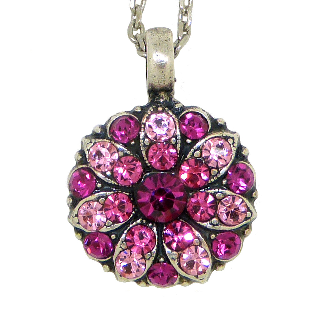 Mariana Guardian Angel Crystal Pendant Necklace 5022 Pink Fuchsia Indian Pink Rose - ILoveThatGift