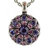 Mariana Guardian Angel Crystal Pendant Necklace 539212 Purple Velvet Pale Pink - ILoveThatGift