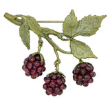Raspberry Brooch Pin  by Michael Michaud Nature Silver Seasons 5554