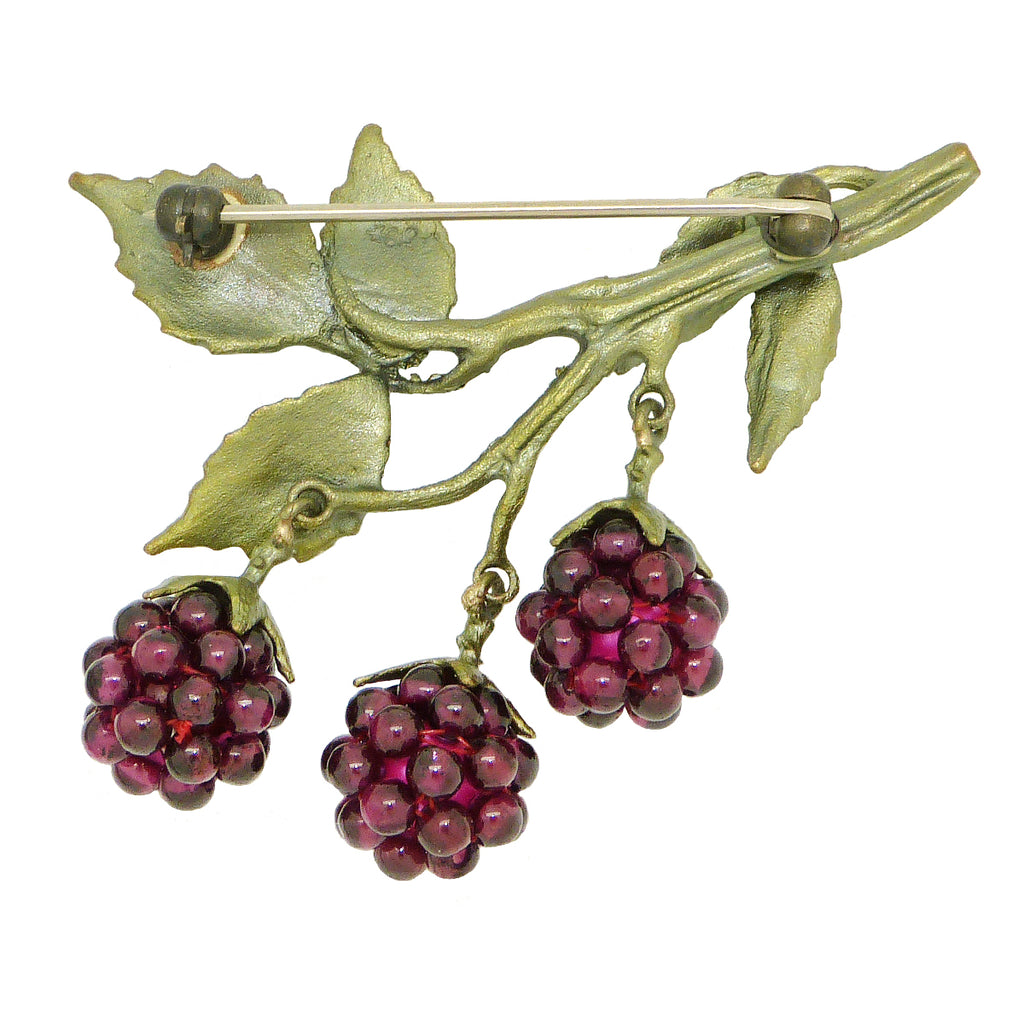 Raspberry Brooch Pin  by Michael Michaud Nature Silver Seasons 5554 - ILoveThatGift