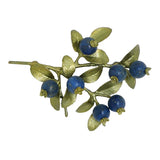 Blueberries Brooch Pin by Michael Michaud Nature Silver Seasons 5666