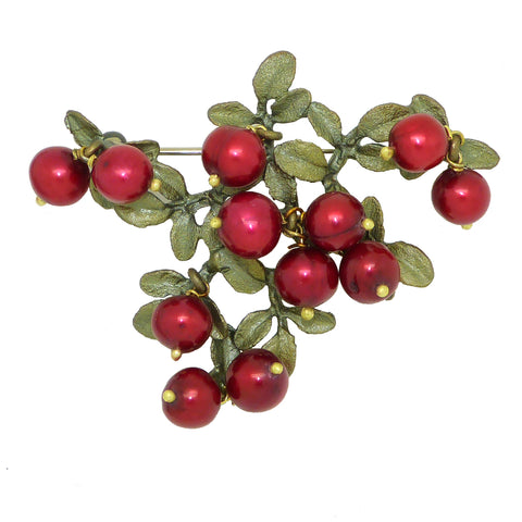 Cranberry Brooch Pin  by Michael Michaud Nature Silver Seasons  5669