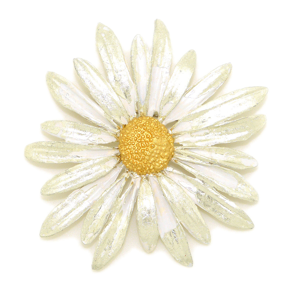 Daisy Brooch Large Pin by Michael Michaud Nature Silver Seasons 5715 - ILoveThatGift