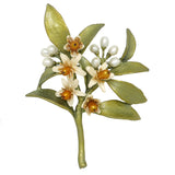Orange Blossom Brooch Pin  by Michael Michaud Nature Silver Seasons 5776