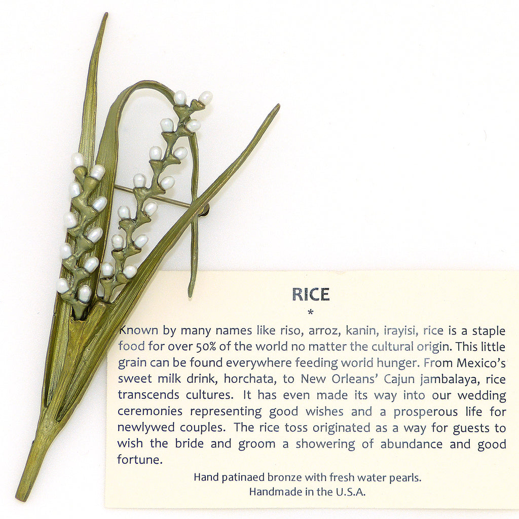 Rice Pin Brooch by Michael Michaud Nature Silver Seasons 5838 - ILoveThatGift
