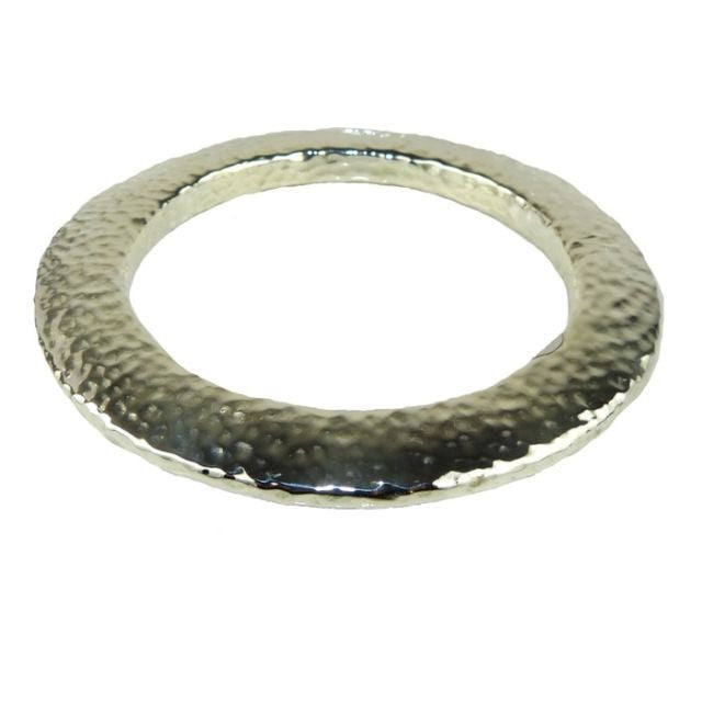 Simon Sebbag Flat Hammered Round Sterling Silver 925 Bracelet B1319 SS Bangle - ILoveThatGift