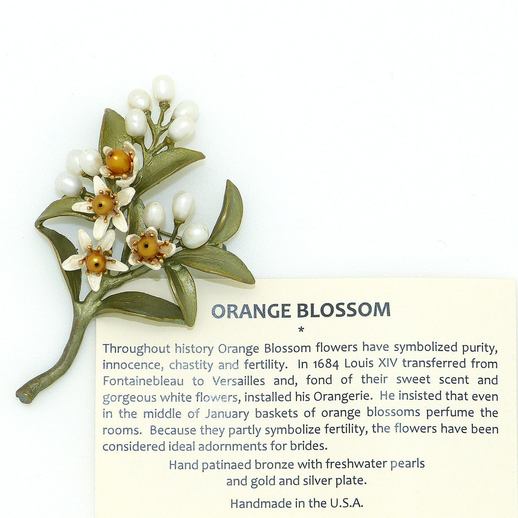 Orange Blossom Brooch Pin #2 by Michael Michaud Nature Silver Seasons 5972 - ILoveThatGift