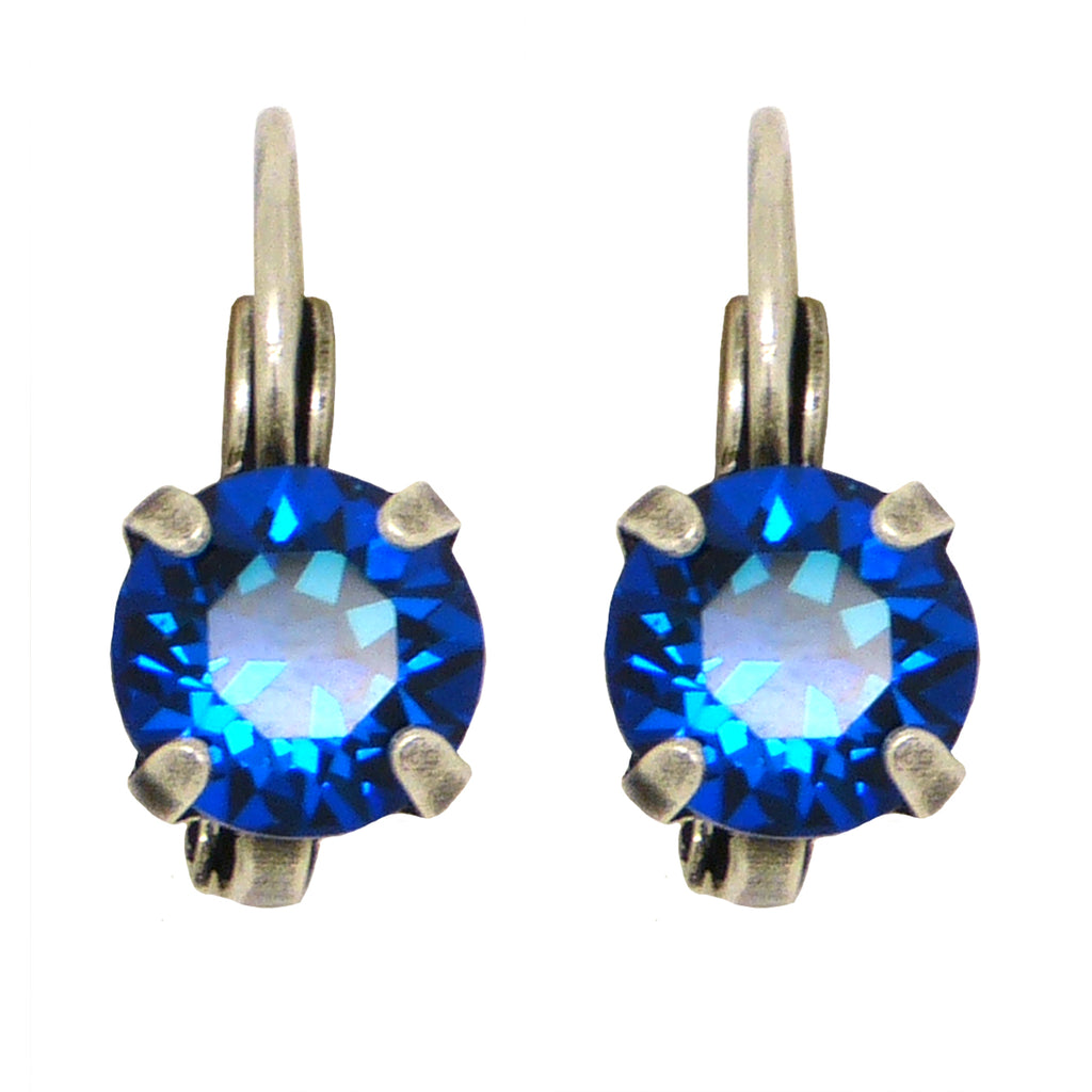 Dorata Handmade Bermuda Blue Swarovski Crystal  Drop Earrings wear with Mariana - ILoveThatGift