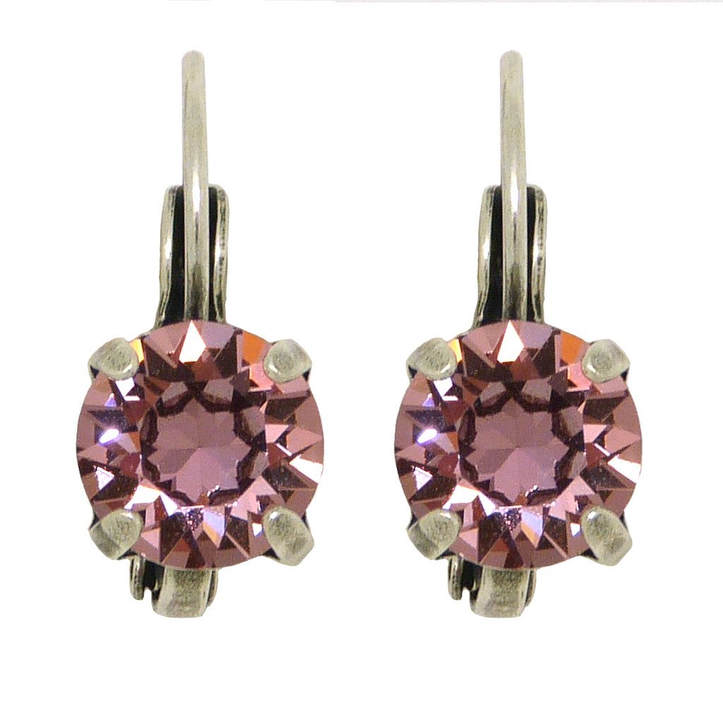 Dorata Handmade Bermuda Antique Pink Swarovski Crystal  Drop Earrings wear with Mariana - ILoveThatGift