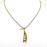 Peas in a Pod Gold Michael Michaud Necklace Three Pearl Peas 7875