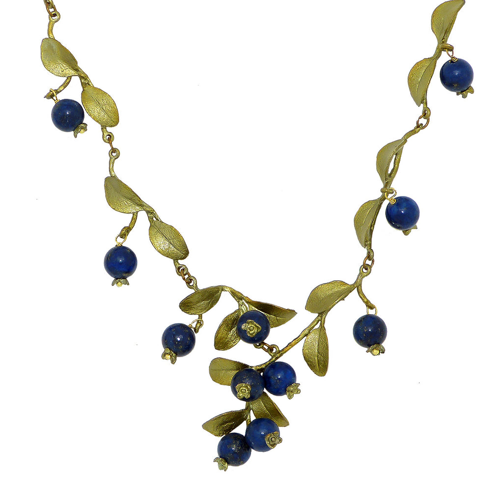 Blueberrires Beaded Necklace by Michael Michaud Nature Silver Seasons 7926 - ILoveThatGift
