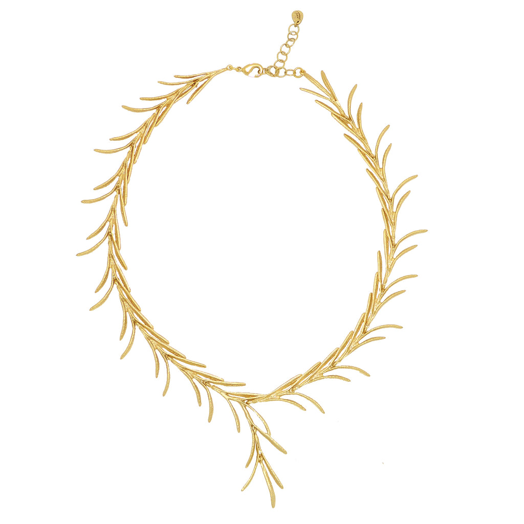 Rosemary Sprig Necklace Gold  by Michael Michaud 8325 Silver Seasons - ILoveThatGift