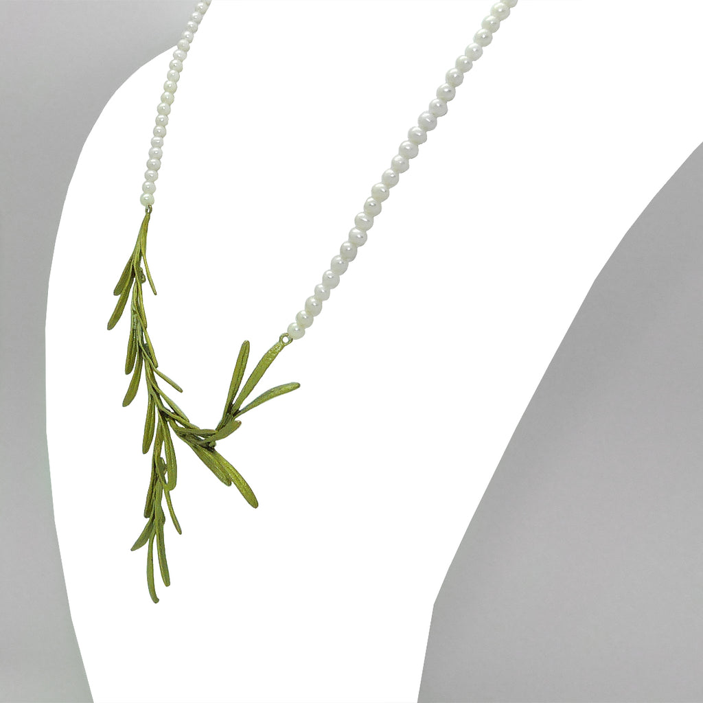 "Rosemary Necklace on Pearls 18"" by Michael Michaud 8326 - ILoveThatGift"