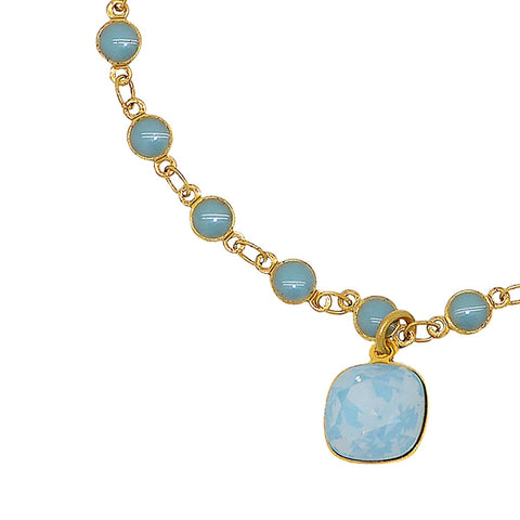 La Vie Parisienne Gold Crystal Air Blue Charm Bracelet 1834G Popesco - ILoveThatGift