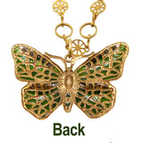 La Vie Parisienne Gold Enamel Butterfly Necklace 915G Popesco - ILoveThatGift