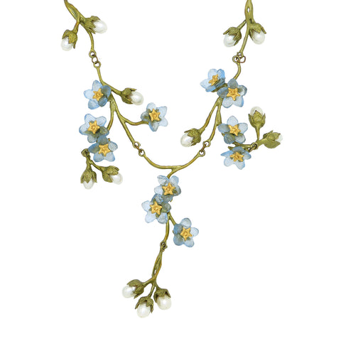 Forget Me Not Contour Flower Necklace by Michael Michaud Nature Silver Seasons 9177 - ILoveThatGift