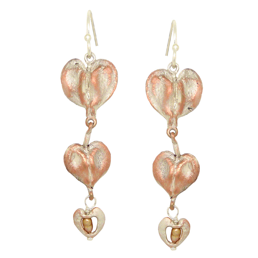 Bleeding Heart Necklace & Earring Set by Michael Michaud Nature Silver Seasons 9262 - ILoveThatGift