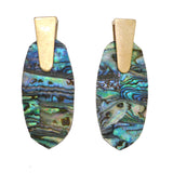 Kendra Scott *INSPIRED* Gold Earrings Abalone Aragon Style - ILoveThatGift