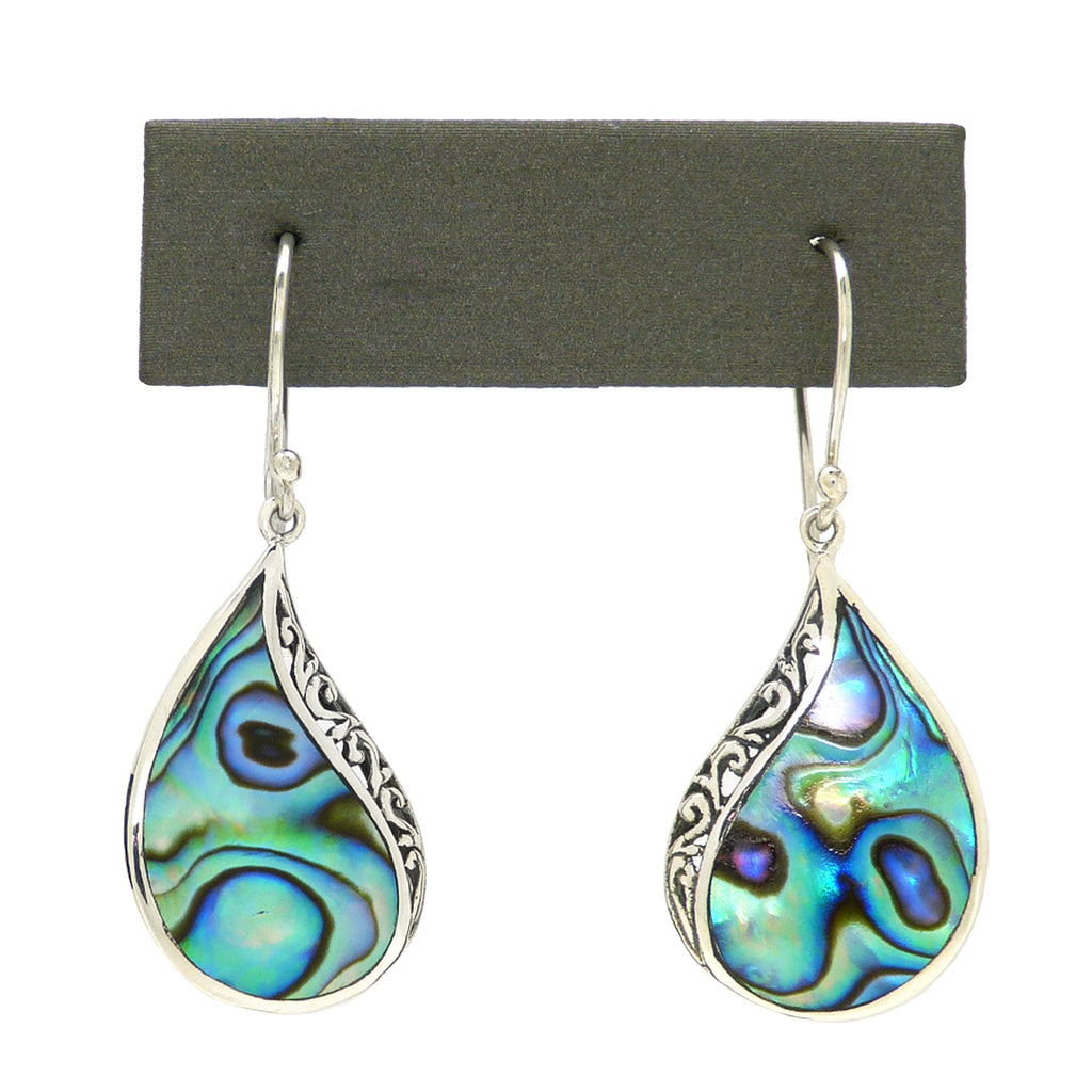 Sterling Silver 925 Bali Earrings with Abalone Shell by Bali Designs