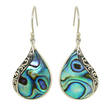Sterling Silver 925 Bali Earrings with Abalone Shell by Bali Designs - ILoveThatGift
