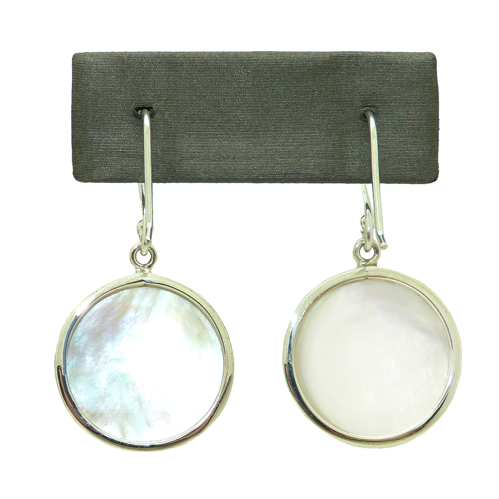 Sterling Silver 925 Bali Earrings with Mother of Pearl MOP Shell by Bali Designs - ILoveThatGift
