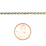 Sterling Silver Handmade 2.5mm Bali Foxtail Link Necklace with Hook Clasp - ILoveThatGift