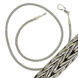 Sterling Silver Handmade 2.5mm Bali Wheat Link Necklace with Hook Clasp - ILoveThatGift