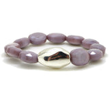 Simon Sebbag Sterling Abstract Bead Lilac Purple Crystal Stretch Bracelet B102FLOC - ILoveThatGift