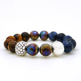 Simon Sebbag Sterling Silver 925 Faceted Tiger's Eye Jasper Bead Bracelet B136FTE - ILoveThatGift