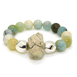 Simon Sebbag Sterling Silver 925 Stretch Amazonite 2 Bead Bracelet B146AMZ - ILoveThatGift