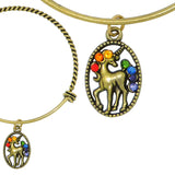 Anne Koplik Swarovski® Unicorn Magic Charm Bangle Bracelet BBG025MUL