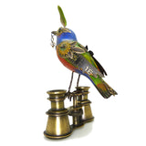 Mullanium Bunting Bird on Binoculars Artists Jim Tori Mullan Steampunk Handmade - ILoveThatGift