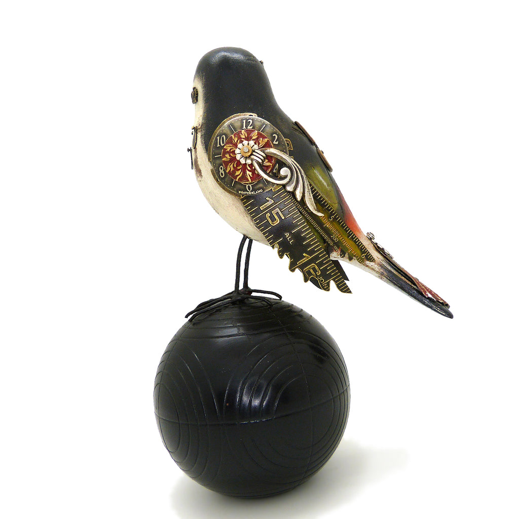 Mullanium Black Manakin Bird Fancy Ball Artists Jim Tori Mullan Steampunk Handmade - ILoveThatGift