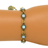 Anne Koplik Gold Air Opal Blue Stacked Drops Bracelet with Swarovski Crystal BR4722AIR - ILoveThatGift