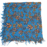 Chan Luu Palace Blue Painterly Floral Cashmere And Silk Scarf - ILoveThatGift
