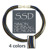 "Simon Sebbag Leather Necklace 3 colors Brown Sand Blue Ink 17"" Add Sterling Silver Slide - ILoveThatGift"