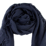 Chan Luu Scarf Soft Cashmere Silk Wrap Blue Nights & Duster Bag - ILoveThatGift