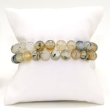Nanni 2 Stretch Gray Faceted 8mm Agate Bracelet set