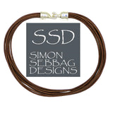 Simon Sebbag Leather Necklace Metallic Bronze Add Sterling Silver Slide 17