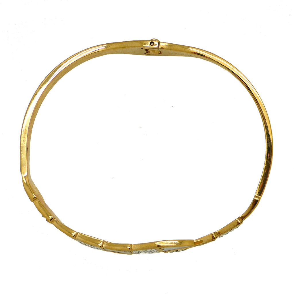 High Polished Gold Serpenti Serpant Crystal Bypass Hinged Bracelet Designer Inspired - ILoveThatGift