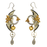Mullanium Steampunk Earrings Clockwork Watch Parts Bumble Bee Handmade Artists Jim Tori Mullan - ILoveThatGift