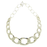 "Simon Sebbag Collar Necklace Sterling Silver Chain  Link 19.5"" Choker CH50S60"