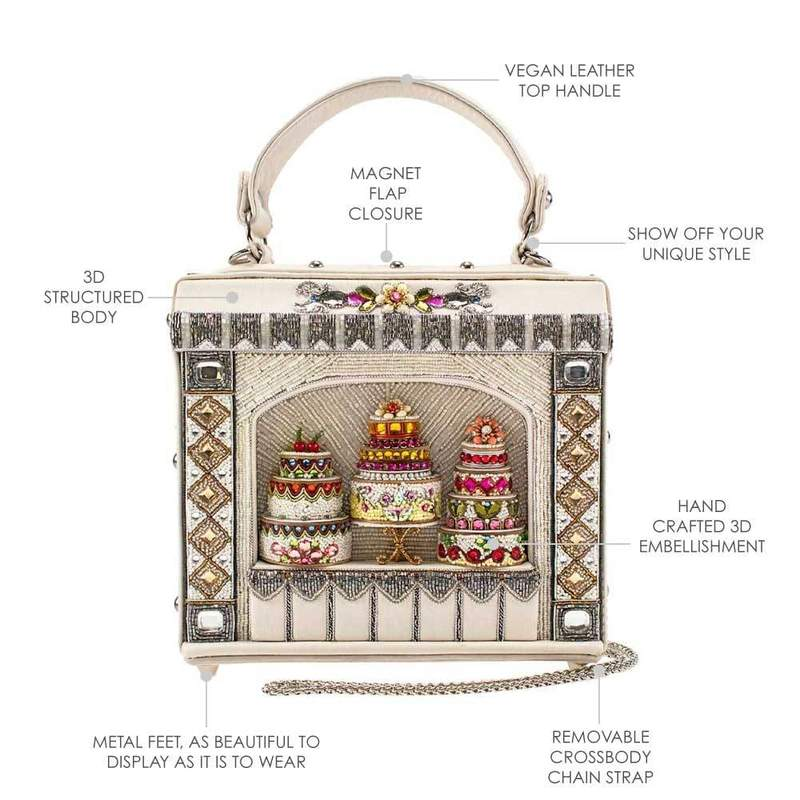 Mary Frances Cake Shop Beaded Top Handle Bridal Handbag 19-482 - ILoveThatGift