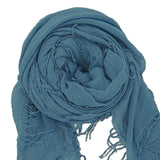 Chan Luu Scarf Soft Cashmere Silk Wrap Cloud Gray Grey & Duster Bag