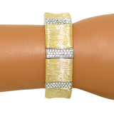 Gold Toned Pave Elephant Skin Bracelet Magnetic Closure Designer Inspired - ILoveThatGift