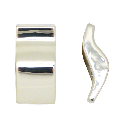 Simon Sebbag Smooth Wavy Sterling Silver Earring E2291 Clip