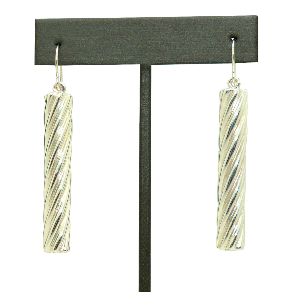 Simon Sebbag Sterling Silver Twisted Tube Earrings E2466 - ILoveThatGift