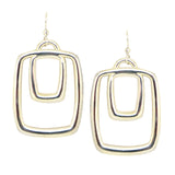 Simon Sebbag Sterling Silver Double Rectangle Wide Earring E2720 - ILoveThatGift