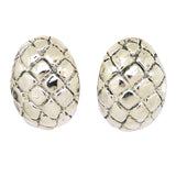 Simon Sebbag Sterling Silver Crocodile Oval Earring E2749 Clip - ILoveThatGift