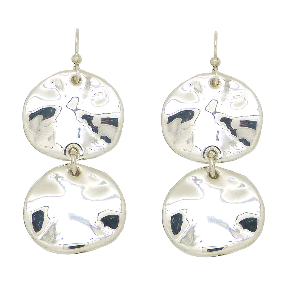 Simon Sebbag Sterling Silver Double Wavy Round Wire Dangle Earrings E2926W - ILoveThatGift